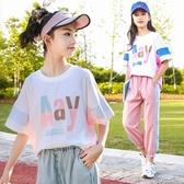 女童短袖T恤2020新款寬鬆中大童夏裝洋氣半袖上衣兒童夏季體恤惢