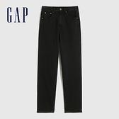 Gap女裝 基本款超高腰直筒型牛仔褲 609829-黑色