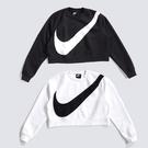 IMPACT Nike Swoosh 黑 白 大勾 短版 毛絨 大學T 運動 BV3934-011 BV3934-100