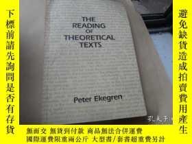 二手書博民逛書店the罕見reading of theoretical text