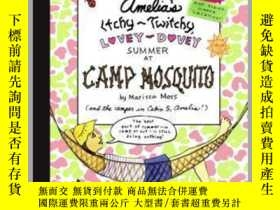 二手書博民逛書店Amelia s罕見Itchy-Twitchy, Lovey-Dovey Summer at Camp Mosqu