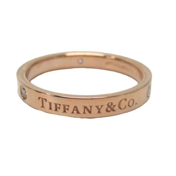Tiffany & Co 蒂芬妮 18K玫瑰金Logo戒指  【二手名牌BRAND OFF】