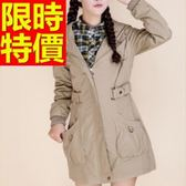 風衣外套 長版-長袖嚴選質感保暖日韓女大衣3色59o42[巴黎精品]