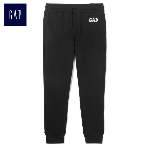 Gap男裝 logo系繩純色休閒長褲 443924-暗夜黑