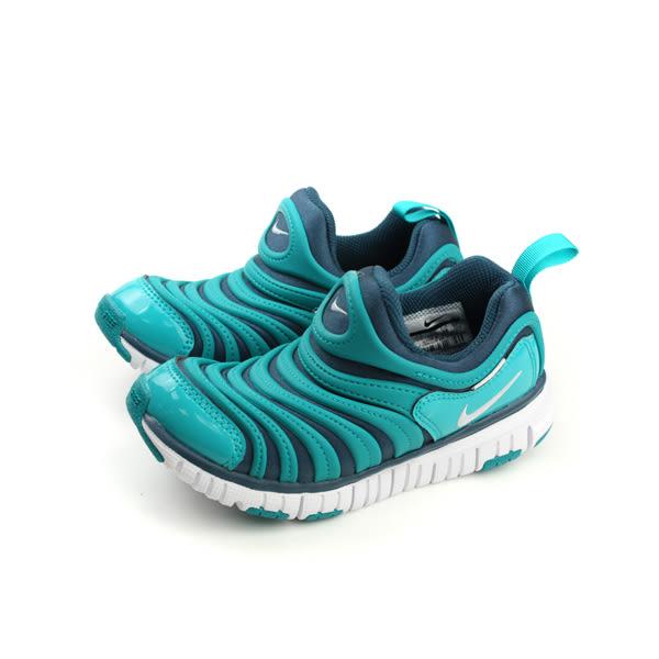 NIKE DYNAMO FREE (PS) 毛毛蟲鞋 童鞋 舒適 好穿 綠色 湖水綠 中童 343738-420 no009