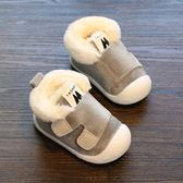 2018寶寶棉鞋加絨1-2歲 冬季學步嬰兒棉鞋0-6-12個月男女童短靴子全館免運 萌萌
