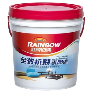 (組)彩虹屋全效抗裂乳膠漆 白色 1G-2入
