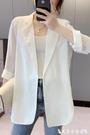 西裝外套 雪紡小西裝女春夏季白色西服上衣...