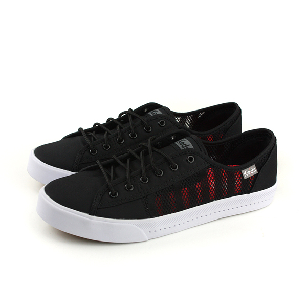 Keds KICKSTART VENT STRIPED MESH 帆布鞋 休閒 黑/紅 女鞋 9181W132429 no279