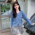 VK精品服飾 韓國風名媛氣質波浪紋針織毛衣單品長袖上衣