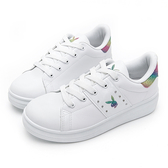 PLAYBOY 微甜色彩 亮蔥兔頭厚底休閒鞋-白彩(Y6213)
