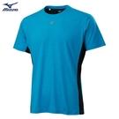 MIZUNO 男裝 短袖 T恤 吸汗快乾 合身版型 炫彩LOGO 藍【運動世界】K2TA100119