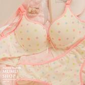 MUMU【B17550】台灣製。彩色波點透氣排汗內衣
