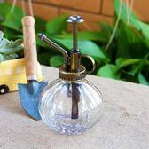 家用復古歐式南瓜玻璃小型噴水壺
