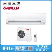 好禮送【SANLUX 三洋】9-11坪變頻冷暖分離式冷氣SAC-72VH7/SAE-72VH7