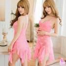 粉紅美人魚蕾絲柔紗二件式睡衣 SEXYBABY 性感寶貝NA16020080