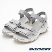 SKECHERS 女鞋 時尚休閒系列 DLITES 涼鞋 韓風厚底 - 灰 31514GRY