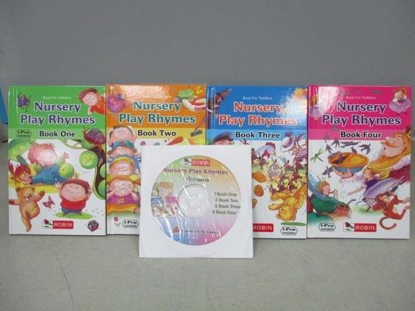 【書寶二手書T7/語言學習_CIA】Nursery Play Rhymes Book1-4_共4書+光碟合售