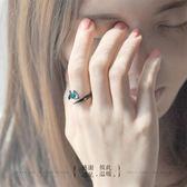 荊棘對戒純銀戒指一對男女潮人個性開口尾戒