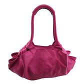 LOEWE 桃紅色小羊皮手提肩背兩用空氣包(八八成新)