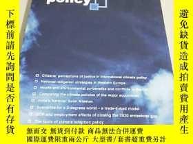 二手書博民逛書店【罕見英文原版】CLIMATE POLICY 2016 .VOL.16 ISSUES 1-4 氣候政策Y194