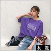 短袖【8097】新款原宿風印花寬鬆百搭短袖T恤