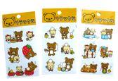 ~卡漫城~拉拉熊轉印貼紙3 張一組㊣版懶懶熊Rilakkuma 裝飾旅行草莓廚師 製