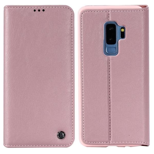 手機配件 卡拉三星S9簡約商務插卡手機皮套復古翻蓋支架三星S9 Plus保護套手機殼 手機套 皮套