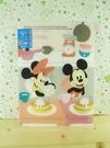 【震撼精品百貨】Micky Mouse_米奇/米妮 ~A5掀開文件夾-吃飯