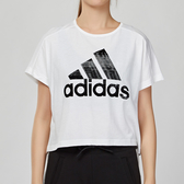 Adidas SPORT ID 女款 白色 寬鬆 舒適 柔軟 棉質 短袖 上衣 ED6176