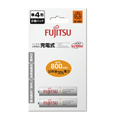 FUJITSU 富士通 4號 800mAh 充電電池 2入 / 卡