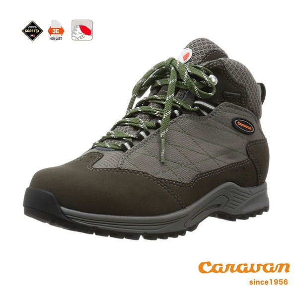 【日本Caravan】 C1_HIKE 輕中筒登山健行鞋 - 灰色