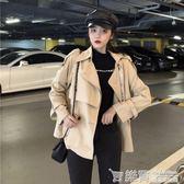 風衣女秋冬裝新款韓版慵懶風復古港味百搭寬鬆顯瘦長袖外套潮