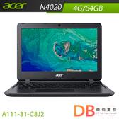 acer A111-31-C8J2 11.6吋 N4020 HD Win 10 S 黑色筆電(6期0利率)