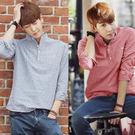 潮流韓版男士長袖條紋襯衫 M-XL(2款可選)