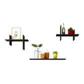 創意墻上置物架板擱板電視背景墻裝飾架置物架墻上書架壁掛墻架 港仔會社