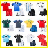黑五好物節兒童足球服套裝男女童寶寶小學生世界杯球衣短袖比賽訓練服夏   初見居家