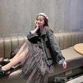 網紅港味復古牛仔外套女春季韓版寬鬆短款原宿風工裝上衣 卡卡西