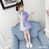 女童連衣裙夏裝大碼洋裝新款兒童超洋氣公主裙大童裝小女孩雪紡裙子潮 qf29663【pink領袖衣社】