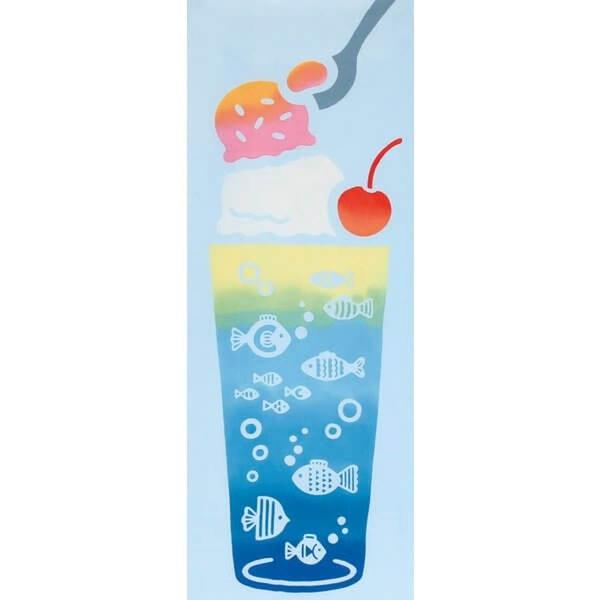 【日本製】【和布華】 日本製 注染拭手巾 冰淇淋蘇打圖案(一組:3個) SD-5019-3 - 和布華