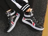 加絨鞋女高幫  韓版帆布鞋女士運動休閒鞋百搭潮鞋學生高幫加絨棉鞋  伊蘿鞋包精品店