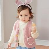 兒童馬甲 女寶寶羊羔毛加絨馬甲嬰兒秋冬馬甲女童外穿坎肩小童冬裝背心外套-Ballet朵朵