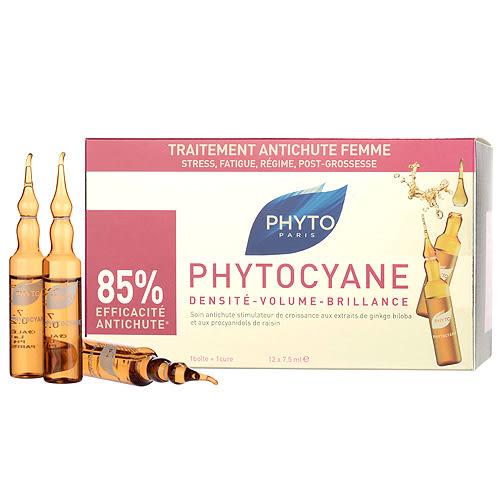 Phyto 髮朵 Phytocyane 絲漾養髮液12 x 0.25oz,12 x 7.5ml ~
