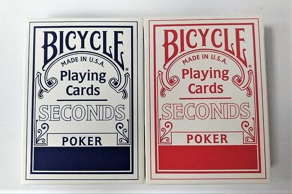 【USPCC撲克】BICYCLE 大師專用 NG牌 次級牌 second 藍封標 ,無塑封