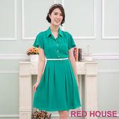 【RED HOUSE-蕾赫斯】襯衫式洋裝(共2色)