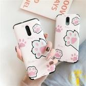 原創可愛貓爪oppo reno2手機殼浮雕可愛卡通簡約少女心萌【雲木雜貨】