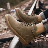 馬丁靴男士高幫鞋保暖加絨雪地靴