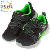 《布布童鞋》SKECHERS_TECHTRONIX_深灰螢光綠兒童機能運動鞋(17~24公分) [ N8RCLMJ ]