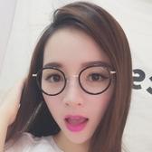 鏡框(圓框)-文藝氣質復古時尚男女平光眼鏡5色73oe71【巴黎精品】