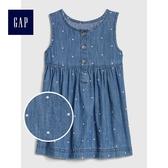 Gap女嬰兒 波點印花舒適無袖洋裝 497634-中度水洗
